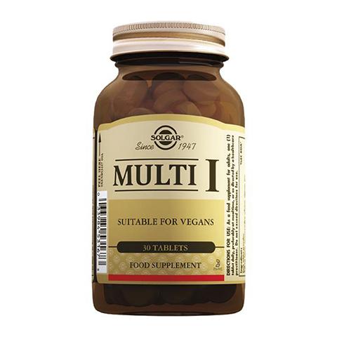 добавка пищевая Solgar Солгар Мульти-1 (30 таблеток) солгар витамин с 500мг с малиновым вкусом 90 таблетки