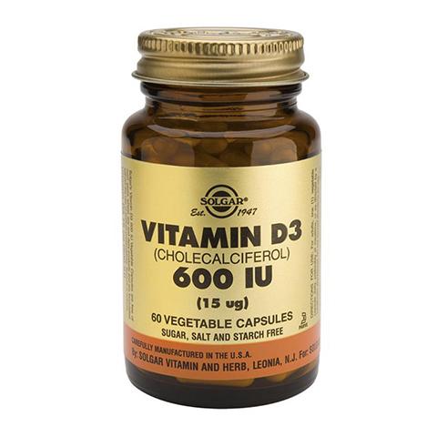 Солгар Витамин D3 600 МЕ (Банка 60 капсул) (Solgar)