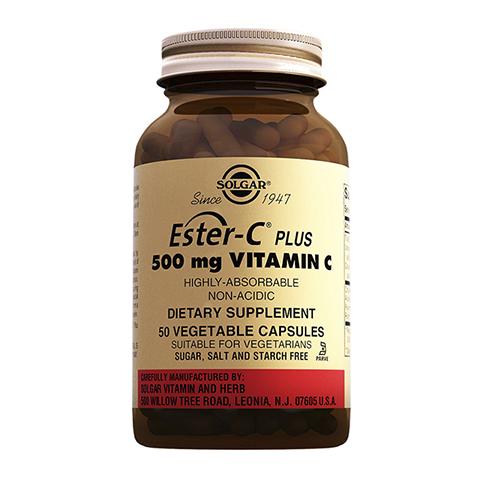добавка пищевая Solgar Солгар Эстер-С® плюс Витамин С 500 мг (50 капсул) solgar витамин с 500 с малиновым вкусом 90 таблеток витамины