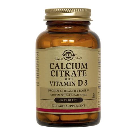 Солгар Цитрат кальция с витамином D3 (60 таблеток) (Solgar)