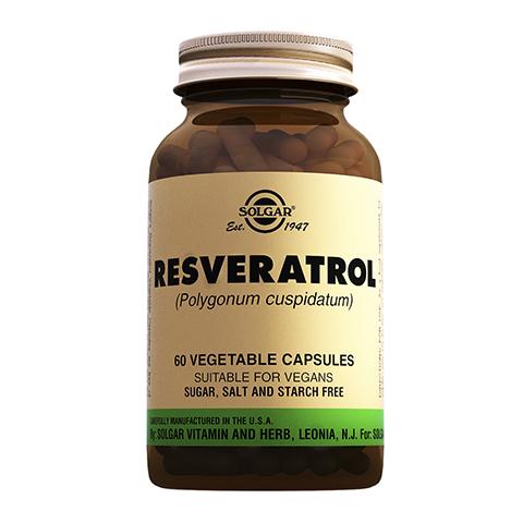 Солгар Ресвератрол 100 мг  (Банка 60 капсул) (Solgar)