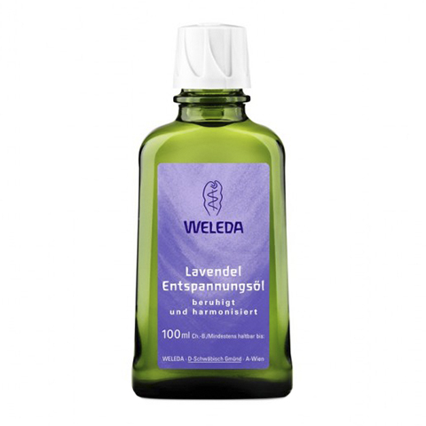 Веледа Лаванда Масло расслабляющее (Флакон 100 мл)Уход за телом<br>Weleda Lavendel Entspannungs?l (Веледа Лаванда Масло расслабляющее) для всех типов кожи.<br>Расслабляющее масло для тела Weleda Lavendel Entspannungs?l – идеальное средство для глубокой  релаксации после напряженного дня: аромат лаванды снимает стресс, дарит чувство спокойствия и душевного комфорта, нормализует сон.<br>Веледа Лавандовое Масло для тела легко распределяется и быстро впитывается, отлично подходит для ароматерапевтического массажа. Натуральные растительные масла делают кожу мягкой, гладкой и эластичной, продлевают ее молодость.<br>Активные компоненты:<br>масло сладкого миндаля разглаживает, смягчает, питает и увлажняет кожу, препятствует шелушению, активизирует регенерацию клеток;<br>кунжутное масло повышает упругость и эластичность кожи, выводит токсины, проявляет антиоксидантные и регенерирующие свойства;<br>лавандовое масло успокаивает нервную систему, ускоряет микроциркуляцию, дезинфицирует и тонизирует кожу.<br><br>Объем мл: 100<br>Тип кожи: всех типов