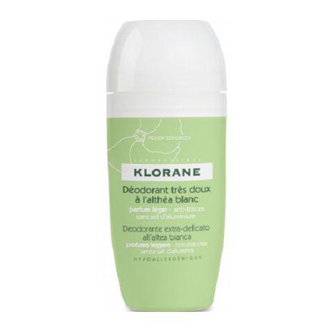 Клоран Дезодорант шарик с белым алтеем  (Флакон 40 мл) (Klorane)