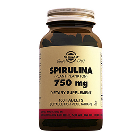 добавка пищевая Solgar Солгар Спирулина 750 мг (100 таблеток) солгар витамин с и шиповник 100 таблетки