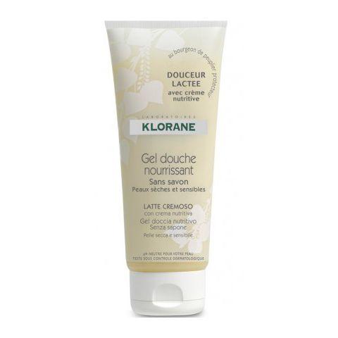 Клоран  Гель для душа сверхпитательный Молочная Нежность (Туба 200 мл) (Klorane)