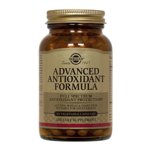 добавка пищевая Solgar Солгар Антиоксидантная формула (Банка 60 капсул) экстракт грибов рейши шиитаке и мейтаке solgar 50 капсул