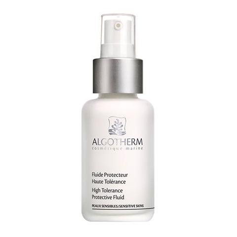 Альготерм АльгоСенси Флюид защитный успокаивающий (Флакон 50 мл)Уход за лицом<br>Algotherm Fluide Protecteur Haute Tolerance (Альготерм АльгоСенси Флюид защитный успокаивающий) для чувствительной кожи. <br>Для успокаивающего и корректирующего ухода за чувствительной кожей лаборатория Algotherm разработала гипоаллергенный Fluide Protecteur Haute Tolerance. Средство увлажняет, питает, снижает реактивность и защищает кожу от внешних агрессий. При регулярном применении покраснения и несовершенства исчезают, кожа становится мягкой, гладкой, восстанавливается комфорт и эластичность. Альготерм АльгоСенси Флюид защитный успокаивающий содержит корректирующий зеленый пигмент, который маскирует покраснения и моментально выравнивает цвет лица. <br>Активные компоненты: <br>морские водоросли Laminaria Ochroleuca защищают и восстанавливают кожу; <br>морские водоросли Porphyridium Cruentum устраняют покраснения; <br>экстракт лаванды успокаивает, смягчает; <br>осмоцид® поддерживает естественный уровень увлажненности кожи; <br>зеленый пигмент нейтрализует красный цвет на воспаленных участках, зрительно устраняя покраснения.<br><br>Объем мл: 50<br>Тип кожи: всех типов, чувствительной