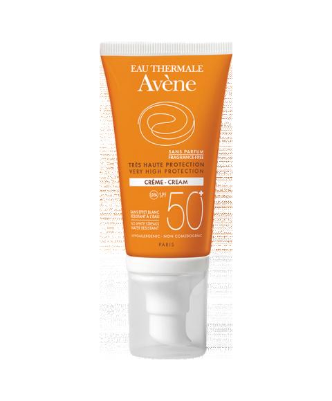 Авен Крем солнцезащитный SPF50+ без отдушек (Туба 50 мл) (Avene)