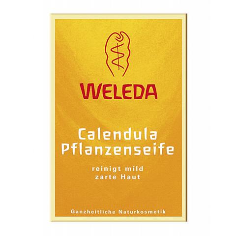 Веледа Календула Мыло растительное детское (Плитка 100 г)Уход за телом<br>Weleda Calendula Pflanzenseife (Веледа Календула Мыло растительное детское) для всех типов кожи, в том числе чувствительной. <br>Если у вас или вашего ребенка кожа рук нуждается в дополнительной защите во время мытья, то выбирайте Веледа Мыло растительное детское с календулой. Мягкое мыло разработано специально для бережного очищения и ухода за чувствительной кожей рук. Weleda Baby Calendula Pflanzenseife создано на основе смеси пальмового, оливкового и кокосового масел, которые покрывают кожу тонким защитным слоем. Экстракты растений успокаивают дерму и предохраняют ее от чрезмерной сухости. Ваша кожа прекрасно очищена, мягкая и нежная. После контакта с водой не остается чувства стянутости, раздражения и покраснений. Качество продуктов Weleda подтверждается сертификатом NaTrue.<br>Активные компоненты: <br>моющая основа на базе кокосового, пальмового и оливкового масел эффективно и мягко устраняют загрязнения с поверхности кожи; <br>глицерин увлажняет, защищает и разглаживает; <br>экстракты цветков календулы, ромашки, фиалки трехцветной  устраняют воспаления, заживляют микротрещинки, защищают; <br>экстракты корня ириса и риса посевного регулируют баланс влаги в коже; <br>экстракт солода увлажняет, способствует регенерации и ускорению обменных процессов в клетках кожи. <br>Не содержит консерванты.<br><br>Тип кожи: всех типов, чувствительной