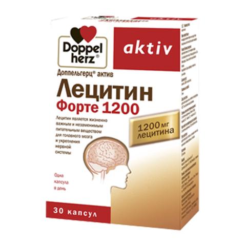 добавка пищевая Doppelherz Доппельгерц Актив Лецитин форте 1200 (30 капсул) пищевая добавка atech nutrition glucosamine chondroitine mcm 100 капсул