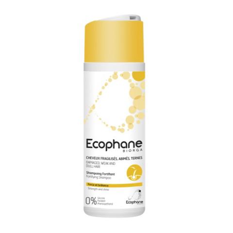 Биорга Экофан Укрепляющий шампунь (Флакон 200 мл)Уход за волосами<br>Biorga Ecophane Fortifying Shampoo (Биорга Экофан Укрепляющий шампунь) для всех типов кожи.<br>Шампунь на ультрамягкой моющей основе эффективно и деликатно очищает волосы и кожу от загрязнений, остатков косметических средств и излишков кожного жира. В его формулу входят ингредиенты, которые укрепляют корни, восстанавливают жизненную силу и здоровую структуру волос, делают их сияющими и послушными, увеличивают объем, нейтрализуют статическое электричество и облегчают расчесывание. Гиалуроновая кислота улучшает гидробаланс, предотвращает раздражение и шелушение чувствительной кожи головы.<br>Активные компоненты:<br>мягкие ПАВ образуют устойчивую кремообразную пену, которая бережно очищает волосы и кожу;<br>пантенол ускоряет регенерацию клеток, укрепляет волосяные фолликулы, увеличивает объем волос и препятствует их сечению;<br>никотинат токоферола улучшает кровоснабжение волосяных фолликулов, возвращая им жизненную силу;<br>глюконат цинка уменьшает выпадение и ускоряет рост волос; гиалуроновая кислота глубоко увлажняет кожу, улучшает межклеточный обмен веществ;<br>поликватерниум-10 восстанавливает поврежденные стержни волос, нейтрализует статическое электричество, образует защитную пленку;<br>гидролизованные протеины пшеницы устраняют ломкость волос, делают их гладкими и шелковистыми;<br>лимонная кислота смягчает воду, придает волосам здоровое сияние, продлевает их свежесть.<br><br>Объем мл: 200<br>Тип кожи: всех типов, чувствительной