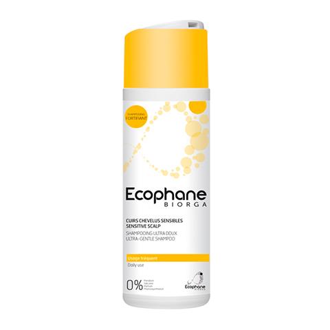 Биорга Экофан Ультрамягкий шампунь (Флакон 200 мл)Уход за волосами<br>Biorga Ecophane Ultra Soft Shampoo (Биорга Экофан Ультрамягкий шампунь) для всех типов кожи, в том числе очень чувствительной.<br>Шампунь на ультрамягкой моющей основе эффективно удаляет загрязнения и излишек кожного жира, одновременно насыщает волосы и кожу влагой. В его формулу входят смягчающие ингредиенты, которые делают волосы гладкими, шелковистыми и послушными, облегчают расчесывание. Гиалуроновая кислота восстанавливает гидробаланс, предотвращает раздражение и шелушение кожи головы.<br>Активные компоненты:<br>комплекс мягких ПАВ образует кремообразную пену, которая деликатно очищает волосы и кожу головы;<br>гиалуроновая кислота обеспечивает глубокое увлажнение кожи, активизирует межклеточный обмен веществ и процессы регенерации клеток;<br>поликватерниум-10 устраняет пористость стержней волос, нейтрализует статическое электричество, образует защитную пленку;<br>лимонная кислота уменьшает жесткость воды, дарит волосам мягкость и здоровое сияние, продлевает их свежесть.<br><br>Объем мл: 200<br>Тип кожи: всех типов, чувствительной