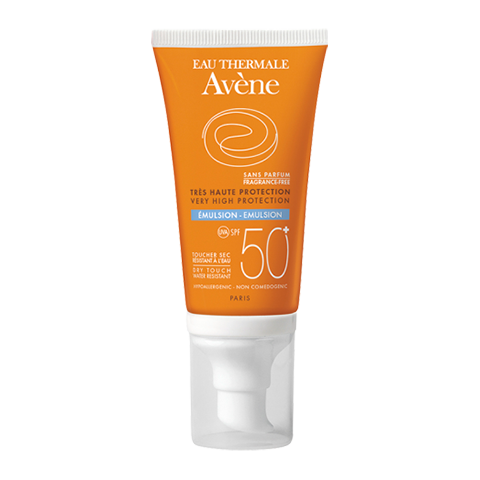 Авен Эмульсия солнцезащитная SPF 50+ без отдушек (Туба с дозатором 50 мл) (Avene)