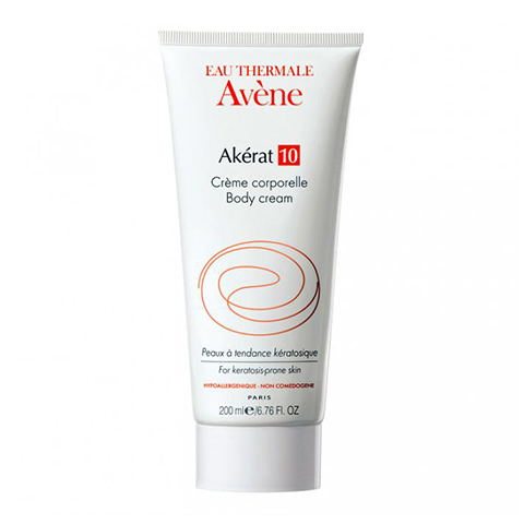 Авен Акерат 10 Крем для тела интенсивный увлажняющий (Туба 200 мл)Уход за телом<br>Крем глубоко увлажняет, смягчает и питает кожу. Снимает зуд, раздражения и чувство стянутости. Кожа становится гладкой, бархатистой, в проблемных местах исчезают проявления кератоза и псориаза.<br>Активные компоненты: <br>термальная вода – увлажняет, успокаивает и снимает воспаление;<br>комплекс из трех кератолитиков (мочевины, салициловой и молочной кислот) – удаляет ороговевшие клетки эпидермиса;<br>масло сладкого миндаля – восстанавливает гидролипидный слой, ускоряет заживление микротрещин.<br>Рекомендуется применять взрослым и детям с трехлетнего возраста<br><br>Объем мл: 200<br>Тип кожи: сухой
