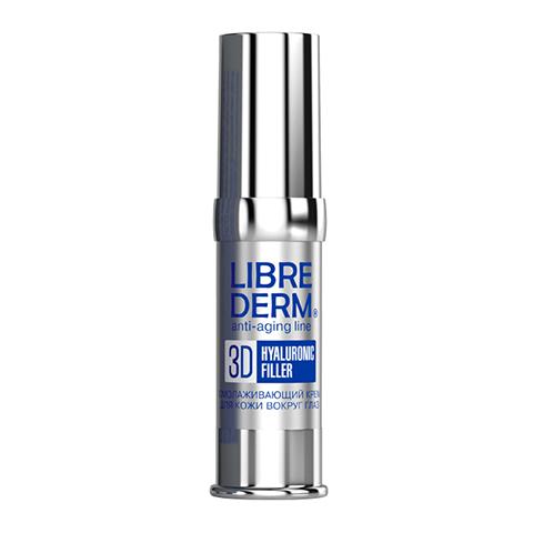 филлер Librederm Либридерм 3D Гиалуроновый филлер Крем для кожи вокруг глаз омолаживающий (Флакон с дозатором 15 мл) librederm патч филлер с микроиглами гиалуроновой кислоты 2