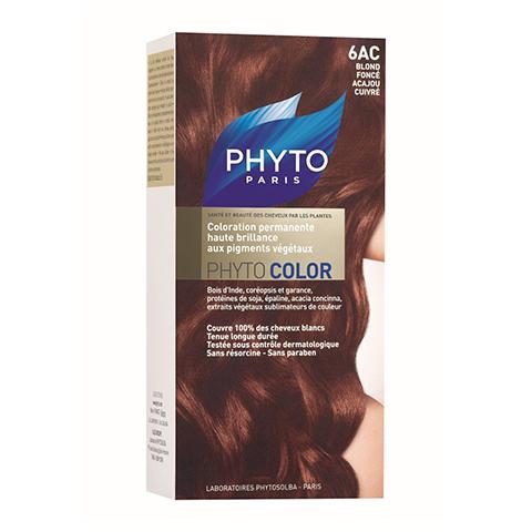 Фито Фитоколор Краска для волос (Набор, 6AC Темный блонд медь-красное дерево)Окрашивание волос<br>Фитоколор – первая стойкая краска, сочетающая высокие технологии и глубокое знание растений, бережно относящаяся к волосам и чувствительной коже головы. Краска содержит от 57% до 61% красящих пигментов (индиго, бразильское дерево, кореопсис, дрок), издревле применяемых в качестве натуральных красителей, а также эфирное масло сладкого апельсина, обеспечивающее глубокое питание волосяного стержня. Благодаря инновационной идее, совместившей в себе высокие технологии и познания в области растений, в свет вышла краска PHYTO COLOR. Это краска, которая: - закрашивает 100% седых волос с первого же окрашивания; - обеспечивает высокую устойчивость вашего цвета; - щадит здоровье кожи головы и волос.<br>Средство для ухода после окрашиванияобогащено эфирным маслом сладкого апельсина и содержит солнцезащитный фильтр. Это средство питает волосяной стержень и придает ему естественный яркий цвет.<br>Кремообразная нежно парфюмированная краска PHYTO COLOR<br>равномерно и легко распределяется по волосам,<br>?практически не содержит аммиака,<br>обладает приятным ароматом и обеспечивает волосам исключительный блеск,<br>содержит UV- фильтр.<br>Состав набора:<br>1 флакон с проявляющим молочком - 60 мл,<br>1 туба с окрашивающим кремом - 40 мл,<br>1 саше с защитным средством - 25 мл,<br>защитные перчатки - 1 пара,<br>инструкция.<br>??Блонд<br>??<br>Шатен<br><br>Брюнет<br><br><br>Таблица поподбору цвета:<br><br>Цвет: 6AC Темный блонд медь-красное дерево<br>Тип кожи: всех типов, чувствительной