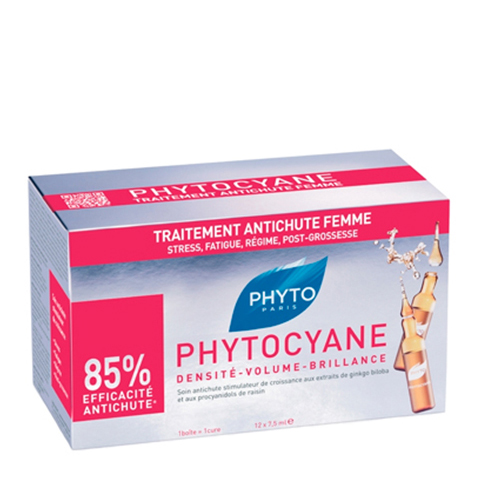 Фито Фитоциан Средство против выпадения волос у женщин (Набор: 12 ампул по 7.5мл) (Phyto)