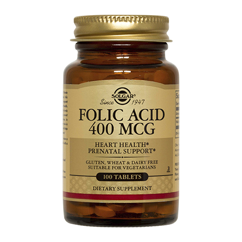 добавка пищевая Solgar Солгар Фолиевая кислота (100 таблеток) фолиевая кислота для беременных где в спб