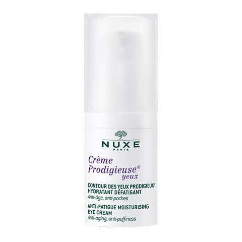Нюкс Продижьёз Крем для контура глаз (Флакон с дозатором 15 мл)Уход за кожей вокруг глаз<br>Инновация НЮКС - легкая эмульсия для контура глаз - увлажняет, снимает усталость и борется с первыми признаками старения, защищая кожу от ежедневной нехватки кислорода, вызванной негативным воздействием окружающей среды (гиалуроновая кислота природного происхождения, бессмертник синий, агератум голубой, экстракт какао). Уменьшает отеки и темные круги под глазами (растительный кофеин).<br>Эксклюзивный метод НЮКС: апробированное на пациентах антиоксидантное действие против нехватки кислорода - основной причины старения кожи.<br>3 патента НЮКС.<br>Гиалуроновая кислота растительного происхождения увлажняет и разглаживает морщины, вызванные обезвоживанием кожи контура глаз.<br>Натуральный кофеин.<br>Экстракт зеленых зерен кофе обеспечивает дренаж и устраняет отеки.<br>Формула на 94,6% состоит из компонентов природного происхождения. Без парабенов<br>Подходит для людей, использующих контактные линзы.<br><br>Объем мл: 15<br>Тип кожи: всех типов