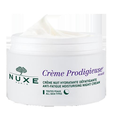 Нюкс Продижьёз Крем ночной (Банка 50 мл)Увлажнение и восстановление кожи<br>Инновация НЮКС - восстанавливающий ночной уход способствует клеточному обновлению, увлажняет, снимает усталость. Он борется с признаками старения кожи, вызванными ежедневной нехваткой кислорода в условиях негативного воздействия окружающей среды. В составе Продижьез® ночного крема сочетаются основные активные вещества- антиоксиданты (ценные цветки бессмертника синего и агератума синего, экстракт какао) и мощное восстанавливающее действие семян люпина белого. Этот инновацонный крем восполняет урон, нанесенный коже окислительным стрессом, полученным в течение дня.<br>Эксклюзивный метод НЮКС: апробированное на пациентах антиоксидантное действие против нехватки кислорода - основной причины старения кожи. 3 патента НЮКС.<br>Разработано и протестировано под дерматологическим контролем.<br>Эффективность и безопасность подтверждены клиническими испытаниями.<br>Эксклюзивная система консервации НЮКС без парабенов.<br>Не содержит искусственных ароматизаторов, минеральных масел, красителей.<br>Формула разработана для минимизации рисков аллергических реакций. Некомедогенно.<br><br>Объем мл: 50<br>Тип кожи: всех типов