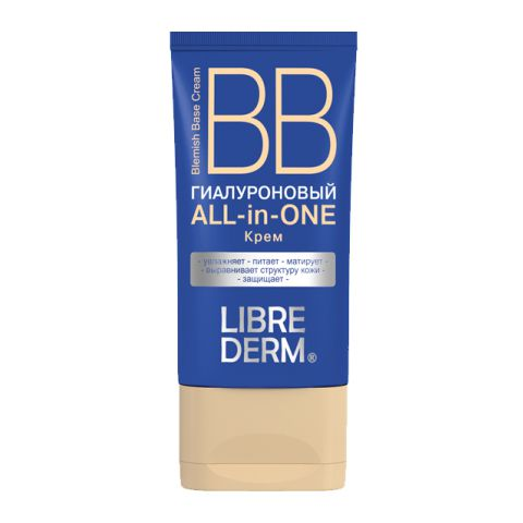 BB-крем Librederm Либридерм ВВ Крем  Гиалуроновый All-in-One (Туба 50 мл) крем librederm vitamin e cream antioxidant for face 50 мл