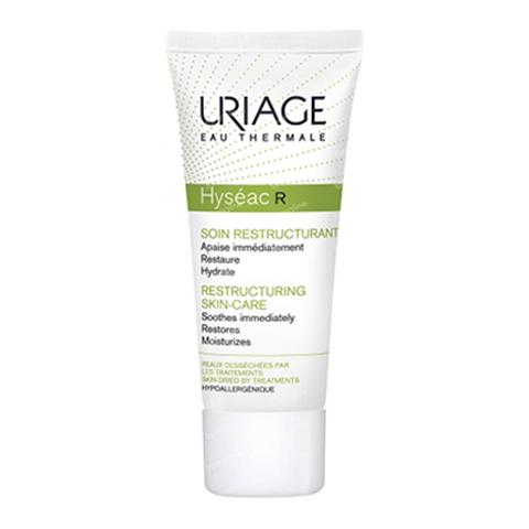 Урьяж Исеак-R Восстанавливающий уход  (Туба 40 мл)Уход за жирной и проблемной кожей<br>Uriage Hyseac-R Soin Restructurant (Урьяж ИСЕАК-R Восстанавливающий уход для кожи, обезвоженной в результате дерматологического лечения).<br>Увлажняет, восстанавливает и мгновенно успокаивает кожу. Избавляет от  неприятного ощущения стянутости. Крем имеет легкую и нежную текстуру. Ваша кожа увлажнена и защищена от внешних агрессивных факторов.<br>Активные компоненты<br>Церастерол-2F патент успокаивает и восстанавливает кожный барьер;<br>TLR2-Regul комплекс регулирует воспалительный процесс на раннем этапе  (врожденный иммунитет) и стимулирует естественные защитные механизмы кожи;<br>Экстракт опунции увлажняет и успокаивает;<br>Термальная вода Урьяж 30% увлажняет, успокаивает и укрепляет кожный барьер;<br>Фитосквалан – защита гидролипидной пленки, восполняет недостаток липидов.<br><br>Объем мл: 40<br>Тип кожи: жирной, комбинированной, проблемной