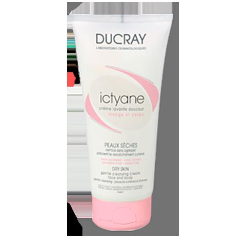 Дюкрэ Иктиан Нежный очищающий крем для лица и тела (Туба 200 мл) (Ducray)
