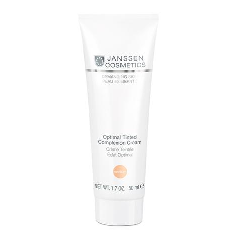 крем Janssen Янсен Требовательная кожа Крем дневной Оптимал Комплекс тон средний SPF10 (Туба 50 мл, medium) корректоры janssen cosmetics tinted corrective balm medium