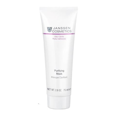 маска Janssen Янсен Маска очищающая себорегулирующая для жирной кожи (Туба 75 мл) пилинг janssen янсен пилинг крем для выравнивания цвета лица туба 50 мл