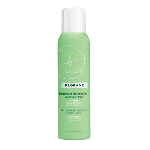 Клоран Дезодорант- спрей 24 часа эффективности с белым алтеем (Спрей 125 мл) (Klorane)