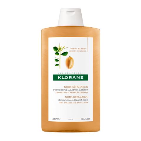 Клоран Шампунь питательный с маслом финика пустынного (Флакон 400 мл)Уход за волосами<br>Klorane Shampoo with Desert Date (Клоран Шампунь питательный с маслом Финика пустынного) для сухих, поврежденных, ломких волос.<br>В формулу шампня  Клоран с маслом Манго входят активные компоненты и высокое содержание протеинов и жирных кислот, благодаря чему средство обеспечивает интенсивное питание сухих волос, увлажняет и восстанавливает структуру на клеточном уровне. При регулярном применении Klorane Shampoo with Desert Date ваши волосы быстро обретут утраченный природный блеск и силу, а также будут надежно защищены от ломкости и секущихся кончиков. Легкая, кремообразная текстура способствует простому нанесению шампуня. Приятный фруктовый аромат с пряными нотками тонизирует и дарит хорошее настроение. Мягкая моющая основа бережно очищает волосы, не повреждая их.<br>Активные компоненты:<br>экстракт финика пустынного восстанавливает структуру за счет природного кератина, глубоко увлажняет и питает волосы, предотвращает сечение и ломкость;<br>растительный эквивалент кератина помогает восстановить структуру кератинового слоя волос;<br><br>Объем мл: 400<br>Тип кожи: всех типов