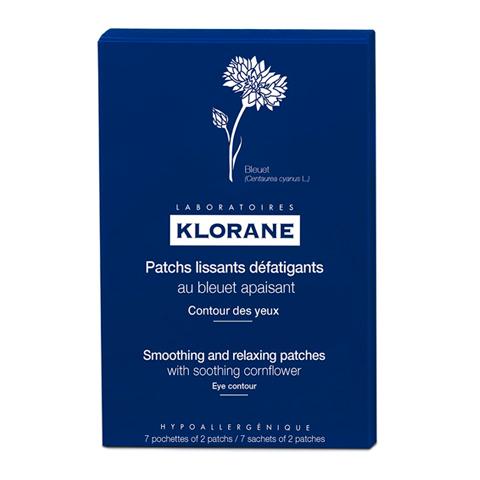 Клоран Маска-компресс для контура глаз успокаивающая  (Саше 7 шт. по 2 маски в каждом) (Klorane)
