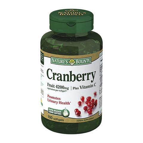 Нэйчес Баунти Концентрат ягод клюквы с витамином С (100 капсул) (Natures Bounty)