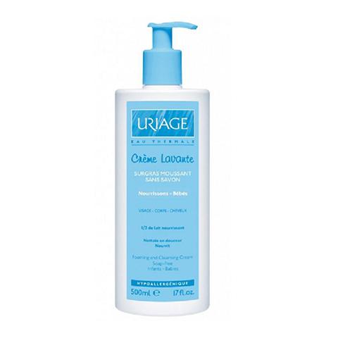 Урьяж Очищающий пенящийся крем для детей и новорожденных (Флакон с дозатором 500 мл) (Uriage)