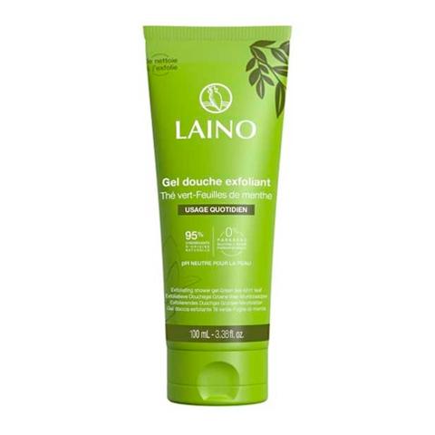 Лено Гель-Эксфолиант для душа Зеленый чай с мятой (Туба 100 мл) (Laino)