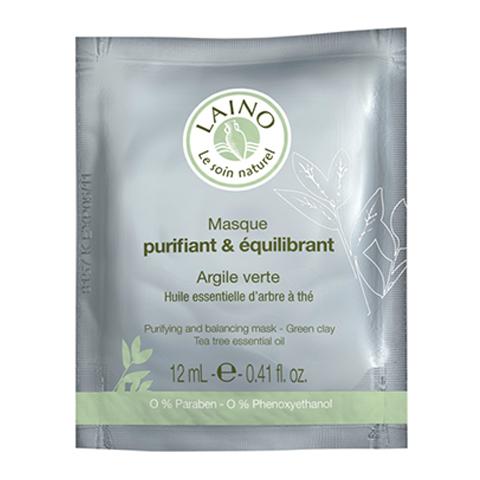 Лено Очищающая и регулирующая  маска для лица с зеленой глиной (Саше 12 г)Уход за лицом<br>Laino Purifying and Balancing Mask - Green Clay (Лено Очищающая и регулирующая маска для лица с зеленой глиной) для жирной, проблемной кожи.<br>Маска на основе зеленой глиныоздоравливает кожу, устраняет загрязнения, сохраняет естественный уровень pH. Регулирует деятельность сальных желез.<br>Поры кожиочищаются и становятся менее заметны, кожа матовая.<br>Активные компоненты:<br>Зеленая глина - очищает и оздаравливает кожу;<br>Эфирное масло чайного дерева - оказывает антибактериальное действие.<br><br>Тип кожи: жирной, комбинированной, проблемной