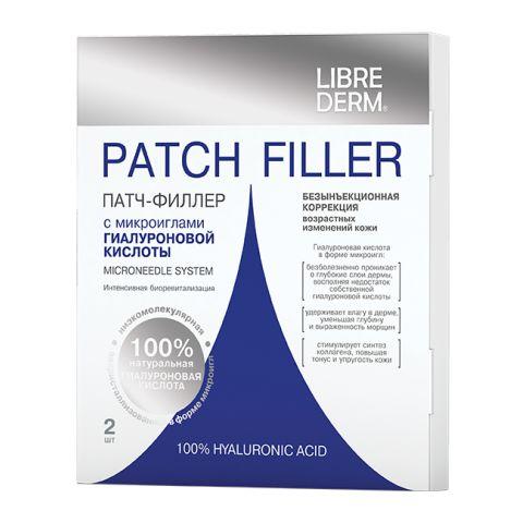 Либридерм Патч-филлер с микроиглами гиалуроновой кислотыУход за лицом<br>Librederm Patch Filler Microneedle System (Либридерм Патч-филлер с микроиглами гиалуроновой кислоты) для всех типов кожи.<br>Librederm Patch Filler Microneedle System – средство нового поколения филлеров для глаз и других зон лица, которое позволяет проводить безинъекционную коррекцию признаков старения кожи в домашних условиях. На поверхности патча находятся 130 микроигл из биорастворимой гиалуроновой кислоты. Они безболезненно прокалывают эпидермис, а через 30 минут начинают растворяться – с этого момента начинается процесс биоревитализации глубоких слоев кожи. Полное растворение микроигл происходит через 3–4 часа - это оптимальное время проведения процедуры.<br>Патч удобно использовать не только на больших участках кожи, но и в области глаз, в носогубной зоне, на переносице. В отличие от популярных филлеров для глаз, которые вводятся инъекционно, гиалуроновые микроиглы не оставляют следов в виде синячков и гематом.<br>Активные компоненты:<br>100% натуральная низкомолекулярная гиалуроновая кислота увеличивает объем межклеточного матрикса, активизирует регенерацию клеток, повышает упругость коллаген-эластинового каркаса, улучшает гидробаланс кожи.<br>Биоревитализирующий препарат распределяется равномерно, благодаря чему после применения патч-филлера для глаз на тонкой коже не появляется бугристость.<br>Хотите быстрее получить хороший эффект омоложения лица? Профессиональные косметологи интернет-магазина Перфектория порекомендуют продукты для интенсивного антивозрастного ухода с учетом типа и состояния вашей кожи. Бесплатные консультации – по телефону и в онлайн-чате. Высокое качество товаров подтверждается сертификатами производителей.<br><br>Тип кожи: всех типов