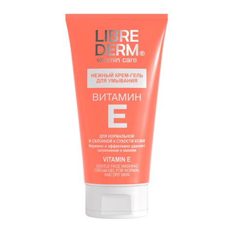 Либридерм Витамин Е Крем-гель для умывания нежный (Туба 150 мл)Уход за лицом<br>Librederm Vitamin Care Vitamin E Gentle Face Washing Cream-Gel (Либридерм Витамин Е Крем-гель для умывания нежный) для нормальной и сухой кожи. <br>Обогащенный витамином Е Крем-гель Librederm Vitamin E Gentle Face Washing Cream-Gel бережно очищает кожу, поддерживает ее гидролипидный баланс и замедляет процессы старения. Средство эффективно устраняет повседневные загрязнения и остатки макияжа, а также подготавливает кожу к дальнейшему уходу. Ухаживающие компоненты способствуют обновлению кожи и защищают ее от окислительного стресса. Использование Либридерм Витамин Е Крем-геля для умывания позволяет защитить кожу во время очищения, предотвратить появление сухости и чувства стянутости.<br>Активные компоненты: <br>витамин Е замедляет процессы старения, увлажняет, обновляет кожу; <br>аллантоин поддерживает гидролипидный баланс, предотвращает испарение влаги.<br><br>Объем мл: 150<br>Тип кожи: нормальной, сухой
