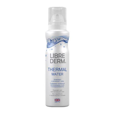 Либридерм Вода термальная (Флакон 125 мл)Уход за лицом<br>Librederm Termal Water (Либридерм Вода термальная) для всех типов кожи. <br>Либридерм Вода термальная рождается в Хайлендс, горной области Шотландии, где чистый воздух и уникальный состав земных пород обогащает ее комплексом минеральных элементов. Кристальная чистота и невоспроизводимая искусственным путем структура придают термальной воде целебные свойства.<br>Librederm Termal Water мгновенно освежает и увлажняет кожу, способствует продлению молодости, избавляет от дискомфорта, защищает от неблагоприятных факторов внешней среды. Ваша кожа сияет и светится здоровьем в течение всего дня.<br>Активные компоненты: <br>комплекс микроэлементов и минеральных солей  освежает, увлажняет, защищает, тонизирует кожу, наполняет ее жизненной энергией.<br><br>Объем мл: 125<br>Тип кожи: всех типов