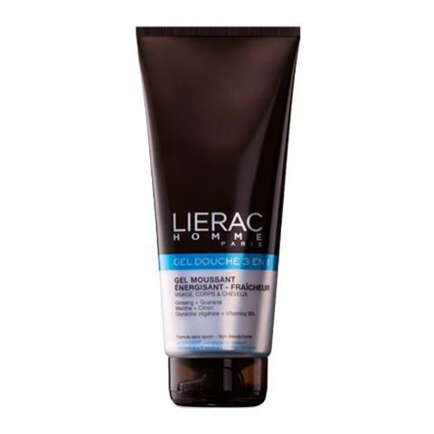 Лиерак Гель для душа 3 в 1  для мужчин (Туба 200 мл)Уход за кожей и волосами<br>Lierac Gel douche integral All-over shower gel (Лиерак Гель для душа 3 в 1 для мужчин) для кожи всех типов, включая чувствительную.<br>Lierac Gel douche integral All-over shower gel – очищающий увлажняющий гель для душа, отзывы о котором подтверждают: он помогает взбодриться утром и отлично снимает усталость после интенсивных тренировок. Мягкая моющая основа не вызывает раздражения, сохраняет естественный уровень рН и гидролипидную пленку кожи и волос, растительные экстракты дарят заряд энергии.<br>Активные компоненты:<br>глицерин – мощный эмолент и увлажнитель;<br>комплекс SKINPOWER восстанавливает жизненную силу клеток;<br>экстракт женьшеня ускоряет клеточное обновление, нейтрализует свободные радикалы;<br>экстракты мяты перечной и лимона освежают, повышают тонус кожи и нервной системы;<br>экстракт гуараны активизирует микроциркуляцию.<br>Согласно отзывам, очищающий увлажняющий гель для душа Lierac Gel douche integral All-over shower gel делает кожу гладкой, эластичной и бархатистой, а волосы – мягкими и блестящими.<br>В интернет-магазине Перфектория представлен широкий ассортимент продуктов Lierac. Лиерак Гель для душа 3 в 1 для мужчин и другие товары можно заказать с доставкой в любой населенный пункт РФ и стран СНГ. Цены ниже, чем в аптеках, оплата – наличными или банковской картой, в каждой посылке – бесплатные каталоги и пробники косметики. Бонусные программы клуба постоянных покупателей PerfectYou предоставляют возможность получать особенные подарки.<br><br>Объем мл: 200<br>Тип кожи: всех типов, чувствительной