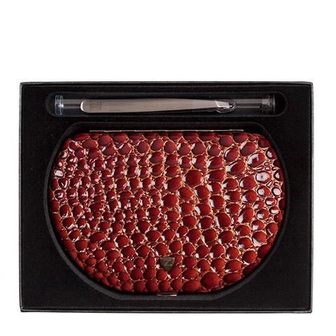 Зингер Набор маникюрный в полукруглом металлическом корпусе коричневый (9 предметов)