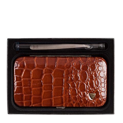 Зингер Набор маникюрный в прямоугольном металлическом корпусе коричневый (8 предметов)