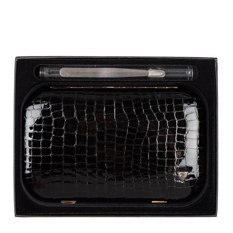 Зингер Набор маникюрный в металлическом прямоугольном корпусе черный (10 предметов)