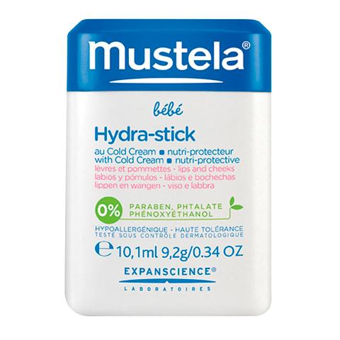 Мустела Бебе Карандаш для губ и лица с кольд-кремом (Стик 10 мл) (Mustela)