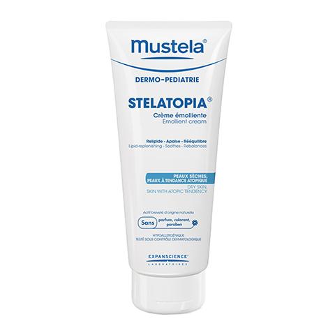 Мустела Стелатопия Бальзам восстанавливающий (Туба 200 мл)Для детей<br>Mustela Stelatopia Baume relipidant (Мустела Стелатопия Бальзам восстанавливающий) для сухой, склонной к атопии кожи.<br>Гипоаллергенный восстанавливающий бальзам Mustela Stelatopia Baume relipidant уже после первого применения увлажняет и успокаивает сухую, склонную к атопии кожу ребенка. Ингредиенты средства восстанавливают защитные функции кожи, снимают дискомфортные ощущения и зуд. Активный компонент на основе масла подсолнечника делает кожу эластичной и мягкой, питает и обновляет ее. Запатентованный состав Active Lipid-Replenishment® стимулирует выработку липидов, которые образуют защитный барьер кожи. Протестированная дерматологами формула сводит к минимуму вероятность возникновения аллергии. Подходит для ежедневного ухода за кожей новорожденных и детей.<br>Активные компоненты:<br>масло подсолнечника питает, защищает, делает кожу мягкой и эластичной;<br>запатентованная формула Active Lipid-Replenishment восстанавливает защитные функции кожи путем стимулирования синтеза липидов.<br><br>Объем мл: 200<br>Тип кожи: атопичной, сухой, чувствительной