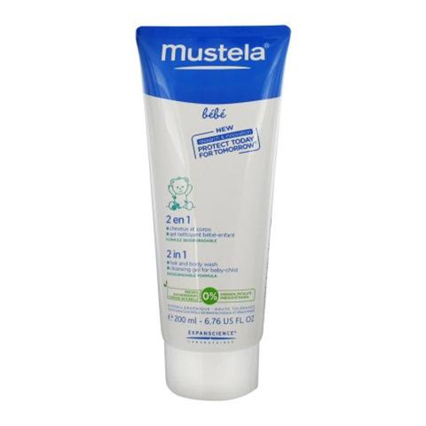 Мустела Бебе Гель-шампунь для головы и тела 2-в-1 (Туба 200 мл) (Mustela)