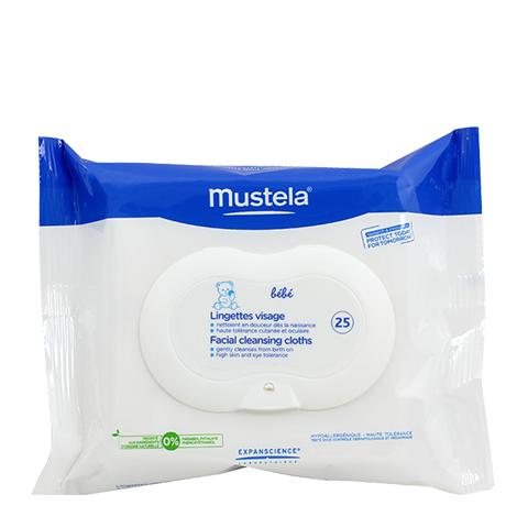 Мустела Бебе Салфетки для лица очищающие детские 25 шт (25 штук) (Mustela)