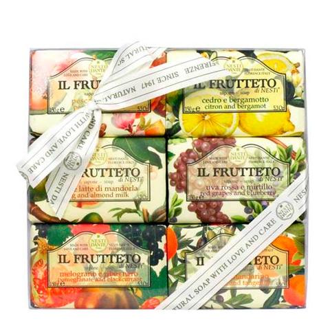 мыло Nesti Dante Нести Данте Фруктовая линия Коллекция мыла (6 штук по 150 г) мыло нести данте живительная свежесть 250г