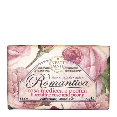 мыло Nesti Dante Нести Данте Романтика Мыло Роза и Пион (Плитка 250 г) nesti dante мыло horto botanico огурец 250 г