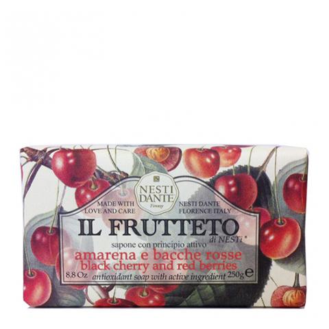 мыло Nesti Dante Нести Данте Фруктовая линия Мыло туалетное Черешня и Красные ягоды (Плитка 250 г) nesti dante мыло horto botanico огурец 250 г
